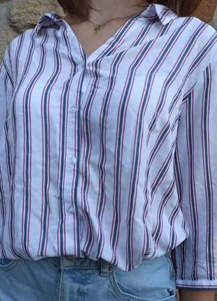 Нежная лёгкая рубашка в полоску