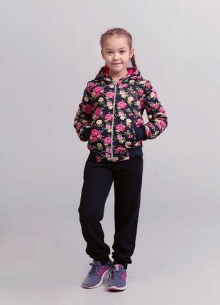 Утеплённый спортивный костюм №1710 для девочки (98-146)