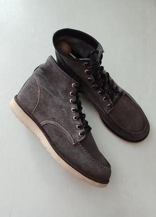 Мужские демисезонные замшевые ботинки