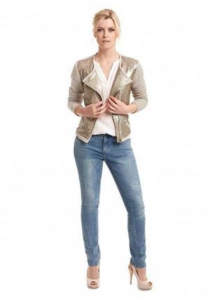 Пиджак женский пайетками tcm tchibo германия размер 40 евро