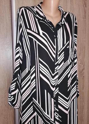 Шикарная удлинённая рубашка блуза туника платье