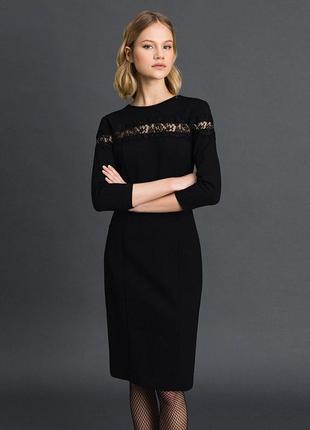 Черное трикотажное платье twinset