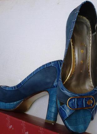 Крутые яркие туфли-босоножки от big rope, р. 38,5