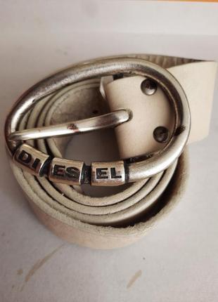 Кожаный ремень пояс diesel