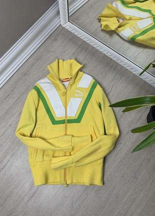 Puma пума женская олимпийка кофта желтая свитшот худи толстовка оригинал