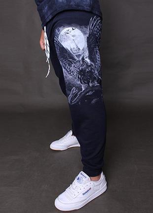 Крутецкие спортивные брюки со светящимся рисунком в темноте 128-152 рост