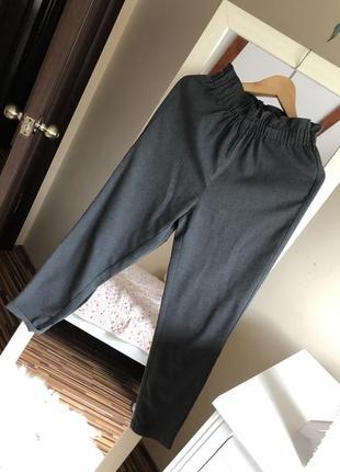 Серые брюки высокая посадка only