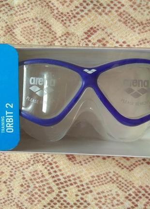 Маска для плавания, очки для плавания arena training orbit 2