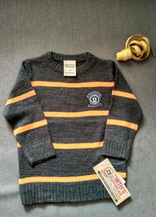 Новый вязаный свитер кофта smith's american, сша, мальчику на 2-3 года