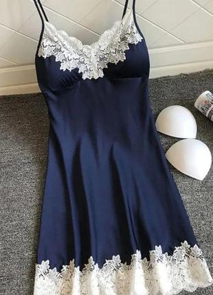 Женское сексуальное атласное ночное платье.
