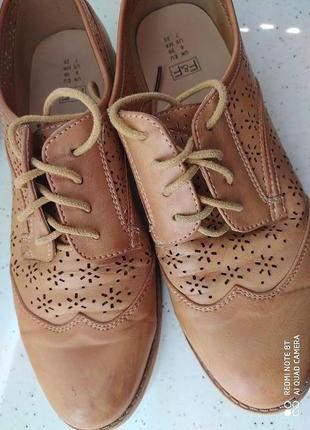 Комфортные туфли оксфорды размер 6/39 от f&f