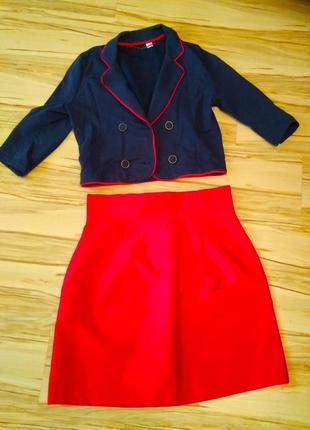 Эксклюзив, новый брендовый костюм наполеон, размер 12-14