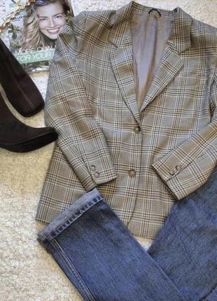 Итальянский шерстяной пиджак оверсайз / жакет / трендовый пиджак1 фото