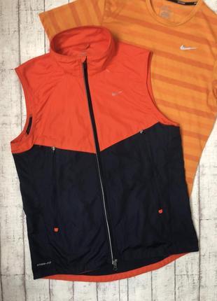 Nike storm dri-fit оригинал беговая жилетка жилет
