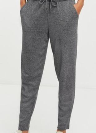 Суперовые трикотажные спортивные брюки джогеры высокая посадка janina