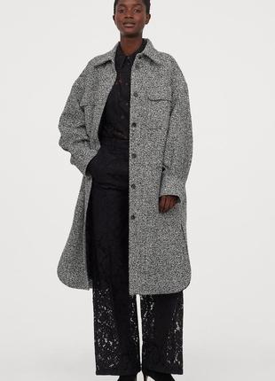 Длинная куртка-рубашка