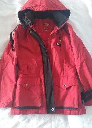 Куртка стильная, парка не промокаемая, на евро зиму
