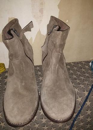 Ботинки замшевые с бахромой