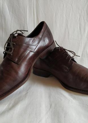 """Мужские кожаные туфли/дерби/броги/оксфорды  """"bugatti"""" размер-46"""