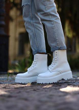 Модные ботинки на высокой платформе 👢 ботинки dr.martens