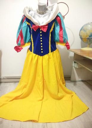 Взрослый карнавальный костюм белоснежка. платье белоснежки.