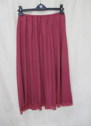 Красивый бордово-розовый подьюбник/батал