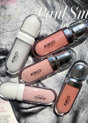 Блеск для губ kiko milano 3d эффект с гилауроновой кислотой