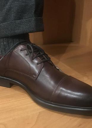 Шкіряні туфлі кожа кожаные туфли 42 reserved