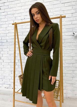1672.     костюм в деловом стиле: платье-жакет+юбка-пояс