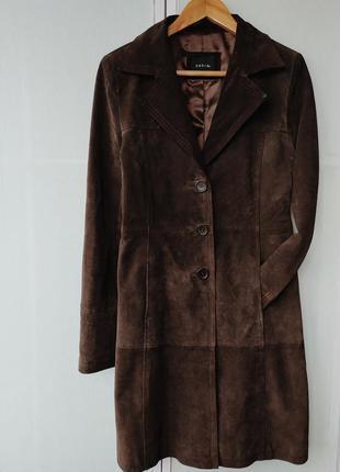 Пальто из натуральной кожи /замши