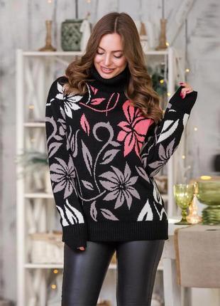 Красивый свитер стиль оверсайз р 44-52