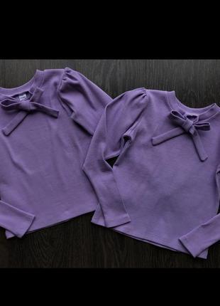 Трикотажная блуза для девочки