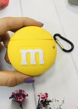 Чехол для наушников airpods 1/2 m&m's желтый 💛