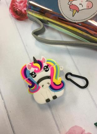 Чехол для наушников airpods 1/2 unicorn 🦄 единорог