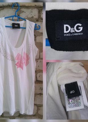 Dolce & gabbana d&g оригинал майка топ футболка размер 40 l голограмма