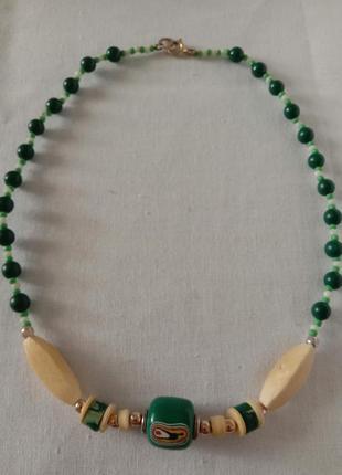 Ожерелье бохо слоновая кость винтаж
