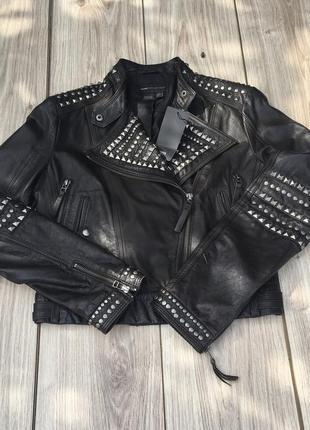 Стильная актуальная кожаная  куртка косуха тренд mango zara h&m