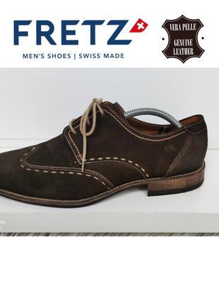 Fretz man швейцария туфли броги - дерби из натуральной замши