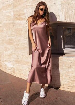 Платье в бельевом стиле комбинация