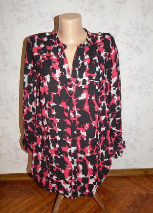 Marks&spencer блузка плотный шифон стильная модная р14 per una