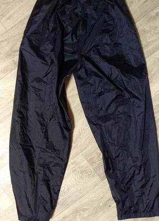 Штаны дождевики m-l размер 48-50 водоотталкивающие непромокающие на трикотажной подкладке