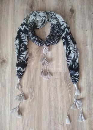 Passigatti шелковый шарфик с кисточками