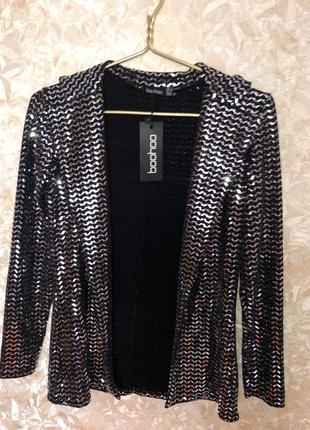 Пиджак блестящий блейзер