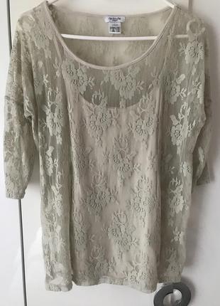 Интересная телесная кофточка/блузка!