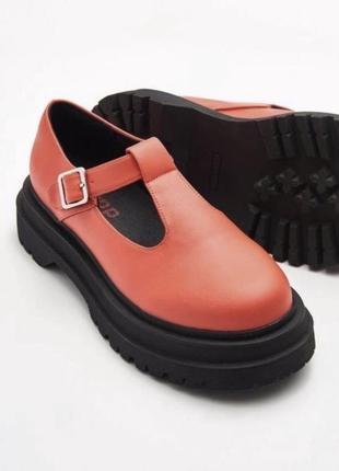 Туфли дерби на толстой подошве {polley}