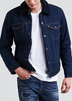 Джинсовая куртка levi's type 3 из шерпа-денима indigo