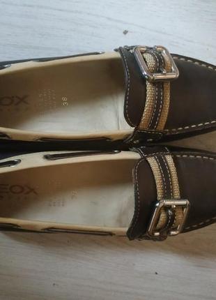 Туфли кожаные geox respira. 37 38. хорошее состояние.