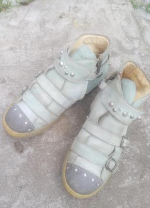 Ботинки кожаные на девочку