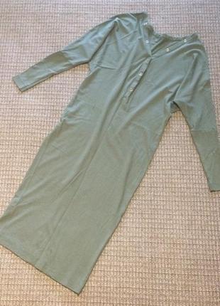 Платье миди стильное классное длинный рукав вискоза