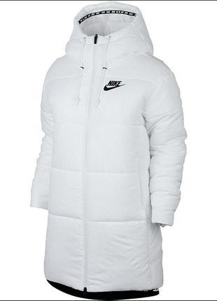 Зимняя/осенняя куртка nike белая оригинал s